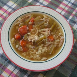 Homemade Chicken Soup with Stars