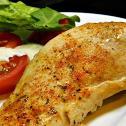 Simple Baked Chicken Breasts Recipe - Simple baked chicken breasts seasoned with a little salt and Creole seasoning is quick and easy to prepare for weeknight dinner.