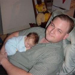 My son asleep on my husband