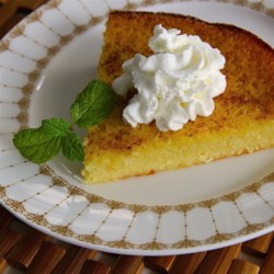 Impossible Eggnog Coconut Pie Recipe - This recipe makes a creamy crustless 'pie' with eggnog and coconut.