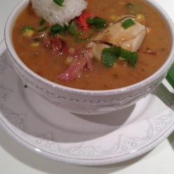 Chef John's Duck, Sausage, and Shrimp Gumbo Recipe - Take your time making this sumptuous gumbo with duck legs, pork hock, sausage, shrimp, and crawfish meat. Serve it with a scoop of cooked rice for a Louisiana treat.