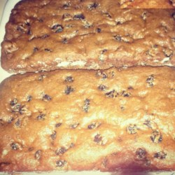 Raisin Cake Recipe - This eggless loaf is very dense and moist. It originated during World War II, when eggs, milk and butter were in short supply.