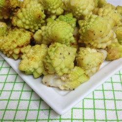 Roasted Romanesco Recipe - Roasted Romanesco, a cross between cauliflower and broccoli, is a tasty side dish that has a very interesting appearance!