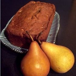 Fresh Pear Bread Recipe - This moist, delicious bread is made with fresh pears and flavored with vanilla pudding mix and cinnamon.