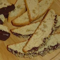 Banana Rum Biscotti Recipe - These biscotti have a hint of banana and rum, and a nutty crunch of toasted pecans.