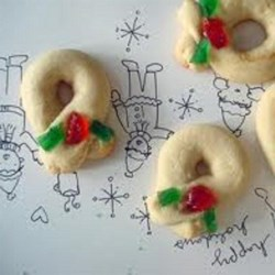 Berliner Kranzer Recipe - German Christmas cookie (orange-flavored wreaths).