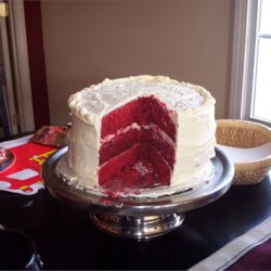 Red Velvet Cake IV Recipe - The classic red cake with a white chocolate cream cheese icing.