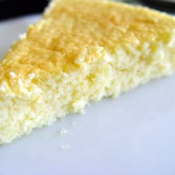 Japanese Cheesecake Recipe - A light and fluffy cheesecake made with whipped eggs and very little cream cheese.