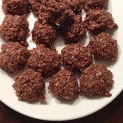 Healthier No Bake Cookies I Recipe - These no-bake cookies are made healthier with oatmeal and unsweetened coconut.