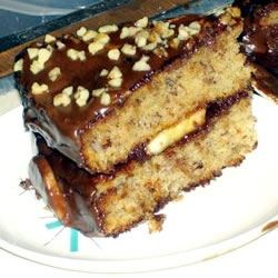 Katrina's Banana Cake Recipe - Moist banana flavored cake, tastes great with a fresh cup of coffee.
