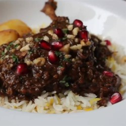 Duck Fesenjan Recipe - Chef John's take on the classic Persian savory stew fesenjan features duck, pomegranate, and walnuts.
