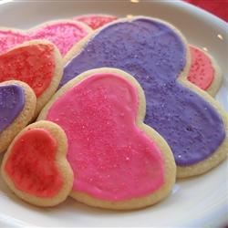 Mary's Sugar Cookies Recipe - This is an old fashioned sugar cookie with a hit of almond flavor. Cut into your favorite shapes with cookie cutters and sprinkle with colored sugar for special occasions.