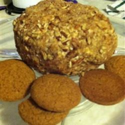 Apple Pie Cheese Ball Recipe - All the flavors of apple pie are combined with cream cheese in this recipe for apple pie cheese ball coated in pecans; serve with apples or graham crackers.