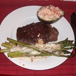Filet with a Merlot Sauce Recipe - Filet Mignon with an excellent Merlot wine sauce.