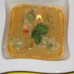 Thai Soup with Shrimp Wantans