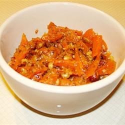 Jacksonville Carrots Recipe - This dish is loved even by those who don't normally like carrots. The flavors blend together beautifully and the hazelnuts provide a nice crunch.