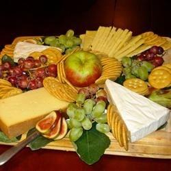 Beautiful Fruit & Cheese Plate