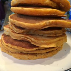 Louisiana Sweet Potato Pancakes Recipe - Try these pancakes made with mashed sweet potatoes, and you may never again want regular pancakes!