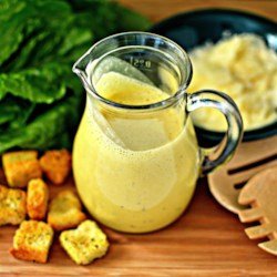 Caesar Salad Dressing Recipe - Caeser salad dressing is only a blender and a few ingredients away thanks to this simple recipe for the salad favorite.
