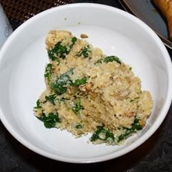 Cheesy Quinoa Pilaf with Spinach Photos - Allrecipes.com