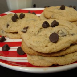 Light Chocolate Chip Cookies Recipe - This is a tasty recipe for soft and chewy chocolate chip cookies. Don't try to double it though, it doesn't turn out.