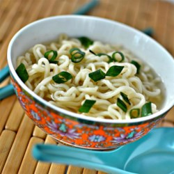 Top Ramen Recipe - Ditch the seasoning packet that comes with your instant ramen noodles and replace with garlic and onion powders and ground ginger.