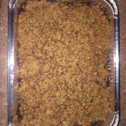 Sweet Potato Crunch Casserole Recipe - Sweet potato casserole with a crunchy praline topping is a Southern take on the traditional Thanksgiving side dish. Serve warm or at room temperature.
