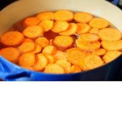Sweet Potato Cooked in Ginger Syrup Recipe - In this recipe, sweet potatoes are cooked in a ginger syrup to make a country-style dessert.