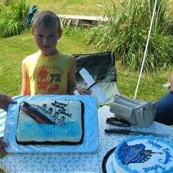 Son's Titanic birthday