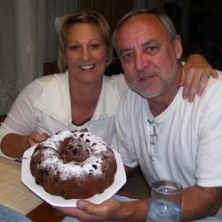 Our son Stephen (B'day) and wife DeDe. It was delicious!