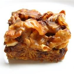 Babe Ruth Bars Recipe - Babe Ruth bar cookies, made with peanuts, corn flakes, and chocolate chips, taste just like a Baby Ruth(R) candy bar.