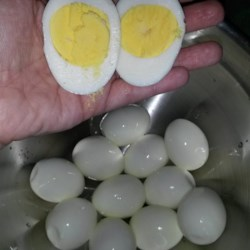 Hard Boiled Eggs in the Oven Recipe - Looking for a new way to achieve hard-cooked eggs without boiling water? You're in luck, as long as you have an oven and this recipe.