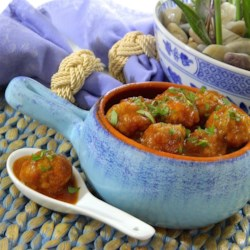 Cocktail Turkey Meatballs Recipe - Savory turkey cocktail meatballs pair perfectly with a sweet and savory apple-mustard sauce in this crowd-pleasing appetizer.