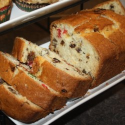 Cherry Spice Loaf Recipe - This is a sweet, fruity quick bread, made with almond extract, dates, cherries and raisins.