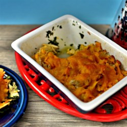 Green Turkey and Cheese Recipe - Leftover turkey casserole that even the kids will eat! This is quick, easy and delicious. Originally submitted to ThanksgivingRecipe.com.