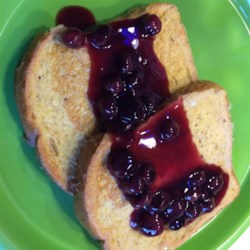 Warm Blueberry Sauce Recipe - Warm blueberry sauce with hints of cinnamon and almond. Fresh or frozen blueberries work equally well.