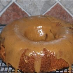 Apple Bundt with caramel glaze