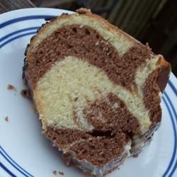 German Marble Cake Recipe - This is a lovely cake with the taste of almond and chocolate and it is almost like a pound cake.