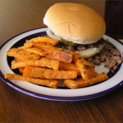 T's Sweet Potato Fries Recipe and Video - These fries are a healthy alternative to the old standard French fries. The Italian seasoning and lemon pepper add an interesting twist to this vegetable.