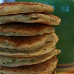 Wild Rice Pancakes Recipe - Cooked wild rice gives these fluffy pancakes a wonderful texture and hint of nutty flavor. Feel free to use more or less wild rice, depending on your preference.