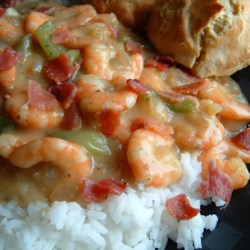 Charleston Shrimp 'n' Gravy Recipe - Authentic original Charleston favorite shrimp recipe usually served as 'shrimp n grits.' Serve over fresh hot grits, rice, or biscuits.