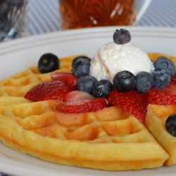 Super Sunday Waffles Recipe - The perfect homemade waffles are quick and easy to make using this simple recipe.