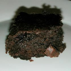 Extra Extra Rich Brownies Recipe - Rich chocolate brownies made without using eggs. These are topped with a frosting that is equally rich.