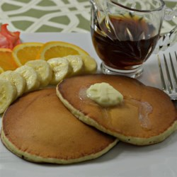 Eggcellent Eggnog Pancakes Recipe - Make extra special eggnog pancakes during the holiday break for a fun, kid-friendly treat the whole family will love.