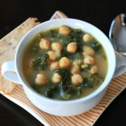 Vegan Kale and Chickpea Soup Recipe - Vegan kale and chickpea soup is a warm meal the whole family will like. Serve over pasta for a hearty dinner.