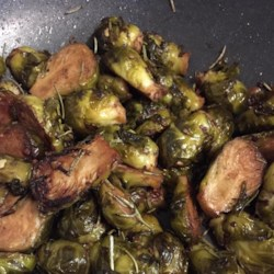 Balsamic-Glazed Brussels Sprouts Recipe - Balsamic-glazed Brussels sprouts with onion is a quick and easy side dish for weeknights or dinner parties.