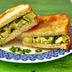 Egg-Style Avocado Salad Sandwiches Recipe - Avocado and kala namak salt work together to create the texture and flavor of eggs in this egg-free egg-salad-like picnic salad.