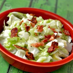 Trail Cabbage with Cream Recipe - Cabbage never tasted as good as it does in this recipe for trail cabbage sauteed with bacon, butter, and finished with cream.