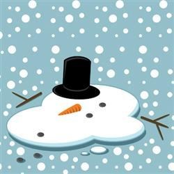 Springtime Snowman