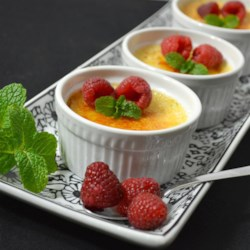 Eggnog Creme Brulee Recipe - Creme brulee made with holiday eggnog in its custard mixture turns a delectable dessert into one that's sublime. The eggnog custard can also be used with a prepared pie crust to make a pie.